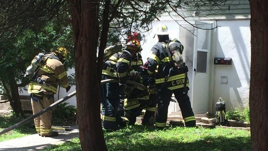 Tallman Firefighters assist Suffern at House Fire