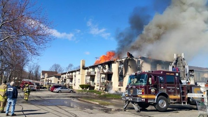 Tallman Responds to Spring Valley Apartment Fire