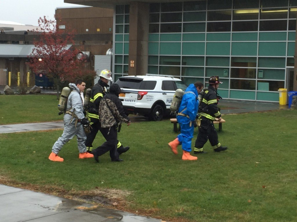 Tallman FD Responds To RCC for 2 unconscious students overcome by odor