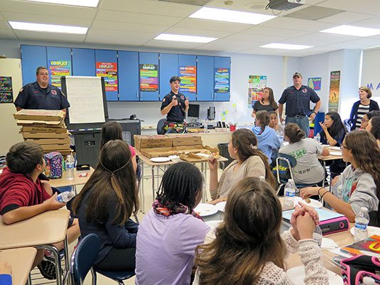 """Good Deed"" project brings TFD and Suffern Middle School students together"