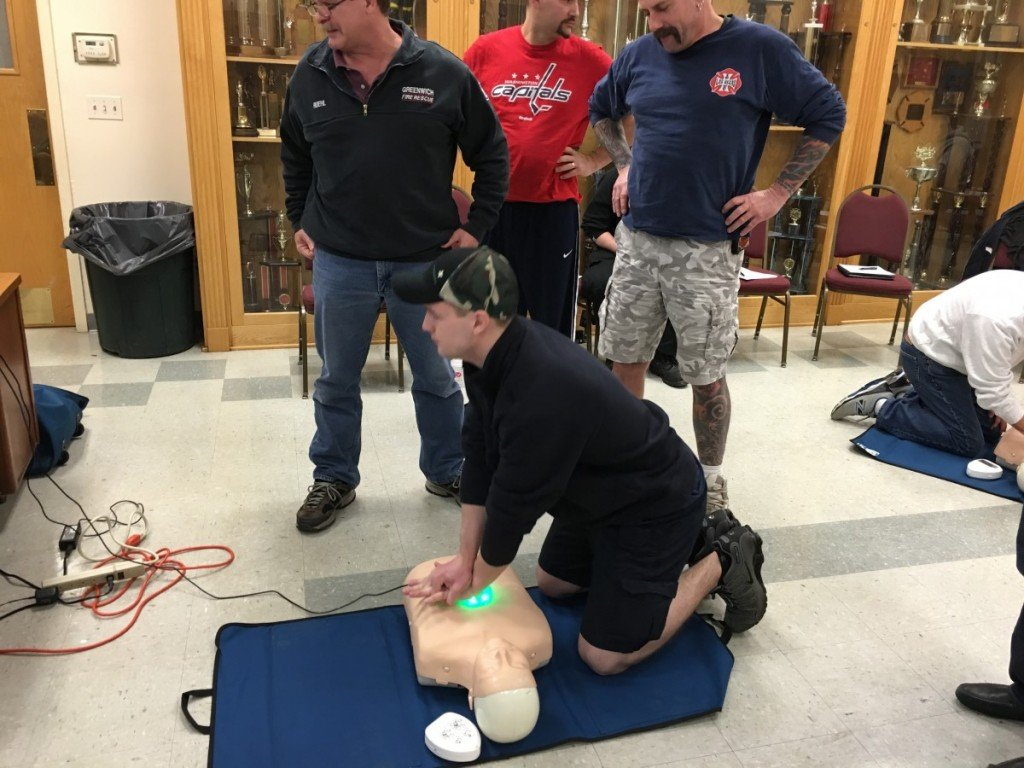 Tallman Firefighters annual re-certification CPR Training