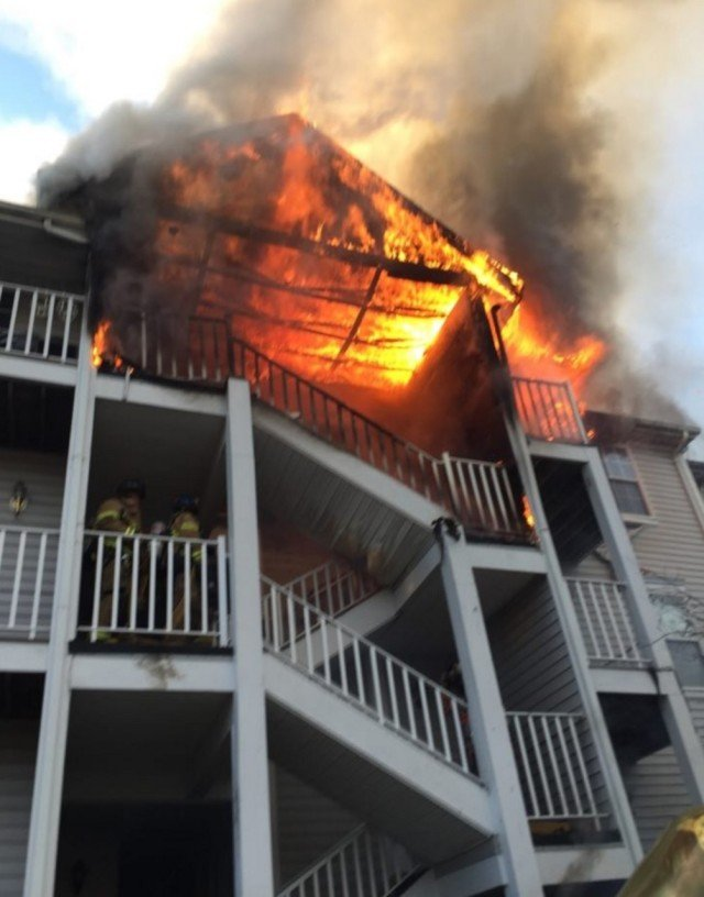 Tallman responds to Mahwah Condo Fire