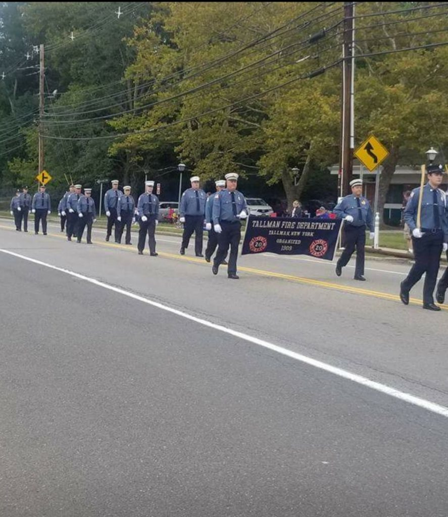 Tallman marching in RCVFA Parade 2017