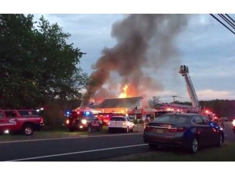 Tallman provides Mutual Aid to Mahwah structure fire
