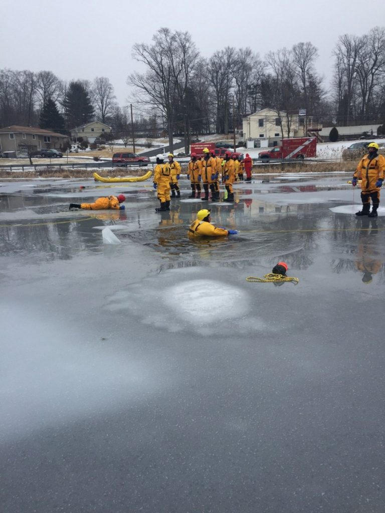 Tallman trains on Ice Rescue with NY State Division of Homeland Security