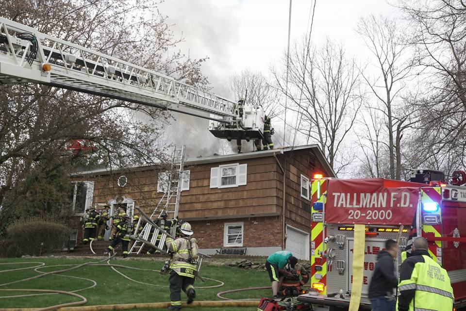 Tallman Responds to house fire